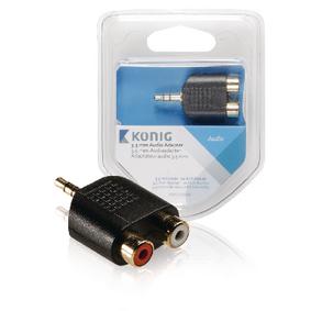 Stereo Audio Adapt�r 3.5mm Z�str�ka - 2x CINCH Z�suvka Antracit
