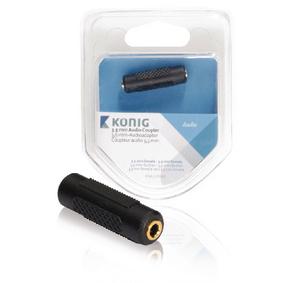 Stereo Audio Adapt�r 3.5mm Z�suvka - 3.5mm Z�suvka Antracit