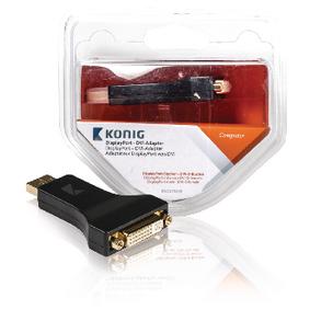 Adaptér DisplayPort DisplayPort Zástrèka - DVI-I 24 5p Zásuvka Antracit