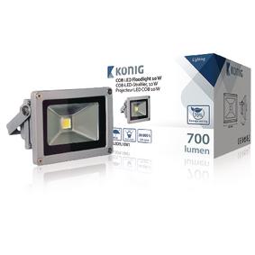 LED Reflektor 10 W 700 lm Šedá