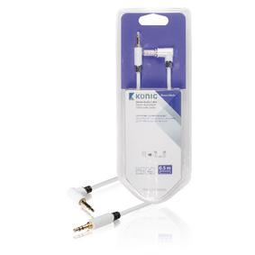 Stereo Audio Kabel 3.5mm Zástrèka - 3.5mm Zástrèka 0.50 m Bílá - zvìtšit obrázek