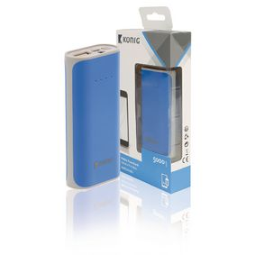 P�enosn� Powerbanka Lithium-Ion 5000 mAh USB Modr�