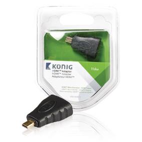 Adaptérem High Speed HDMI s Ethernetem HDMI Micro Konektor - HDMI Zásuvka Antracit