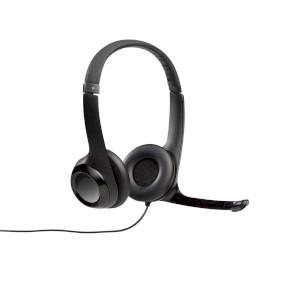 Headset ANC (Active Noise Cancelling) Na Uši USB Kabelové Vestavìný mikrofon 2.4 m Èerná - zvìtšit obrázek