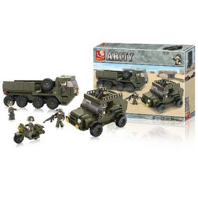 Stavebnicové Kostky Army Serie Zásobovací Oddíly