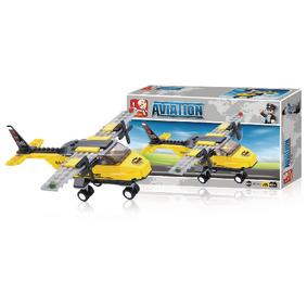 Stavebnicové Kostky Aviation Serie Cvièné Letadlo