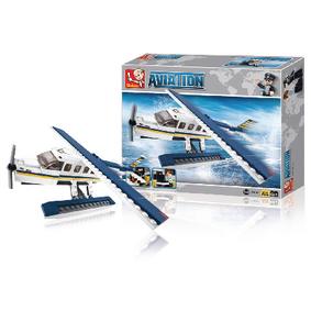 Stavebnicové Kostky Aviation Serie Hydroplán