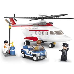 Stavebnicové Kostky Aviation Serie Helikoptéra
