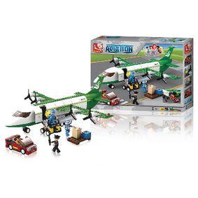 Stavebnicové Kostky Aviation Letecké Nákladní