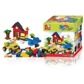 Stavebnicové Kostky Kiddy Bricks Serie Basic Building Bricks Girls 415 pcs