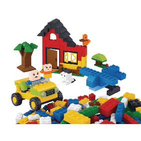 Stavebnicové Kostky Kiddy Bricks Serie Basic Building Bricks Girls 415 pcs