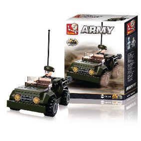 Stavebnicové Kostky Army Serie Džíp