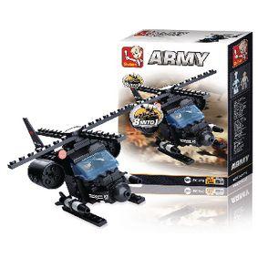 Stavebnicové Kostky Army Serie Helikoptéra