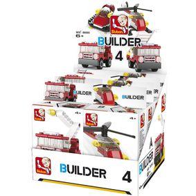 Stavebnicov� Kostky Builder Fire