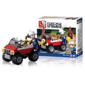 Stavebnicové Kostky Fire Serie Požární jeep