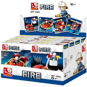 Stavebnicové Kostky Fire Serie Požární vozidla
