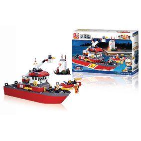Stavebnicové Kostky Fire Serie Fireboat