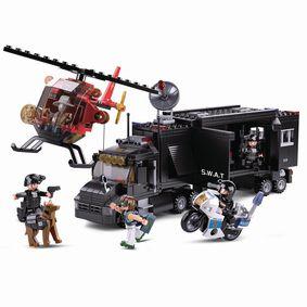 Stavebnicové Kostky Police Serie Mobilní Velitelské Centrum SWAT
