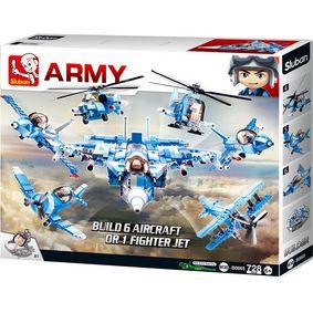 Stavebnicové Kostky Army Serie Armádní Stíhací Letoun 6 v 1