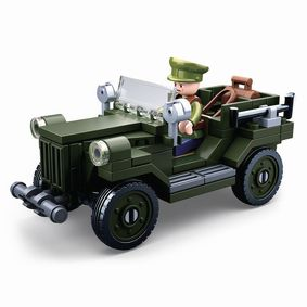 Stavebnicové Kostky WWII Serie GAZ-67 Allied Light Truck