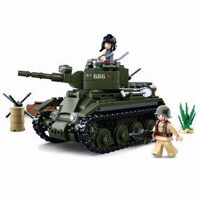 Stavebnicov� Kostky WWII Serie BT-7 Allied Cavalry Tank