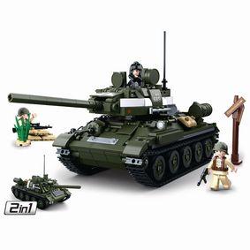 Stavebnicov� Kostky WWII Serie T-3485 Allied Tank 2 in 1