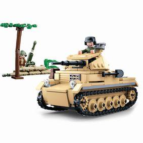 Stavebnicov� Kostky WWII Serie Panzer II German Tank