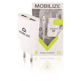 Univerzální AC Napájecí Adaptér USB / Micro USB Bílá