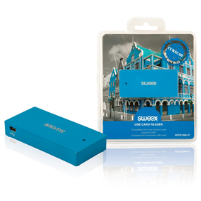 �te�ka Pam�ov�ch Karet V�ce karet USB 2.0 Modr�