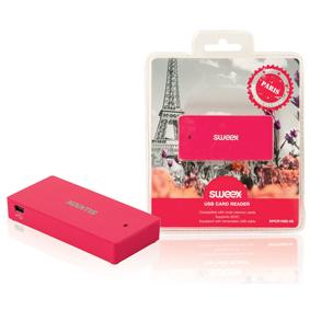 Èteèka Pamì�ových Karet Více karet USB 2.0 Rùžová