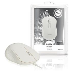 Drátová Myš Stolní 3 Tlaèítka Bílá
