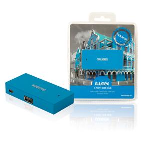 4 Porty Rozbo�ova� USB 2.0 Modr�