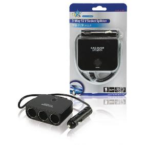Univerzální DC Napájecí Adaptér 12 VDC / 5 VDC 1.0 A Automobil / USB