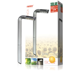 Solární Zahradní Svítidlo 8 LED
