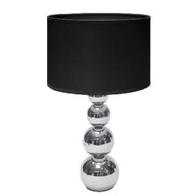 Stolní Lampa Dotyková Funkce 40 W Chrom / Èerná