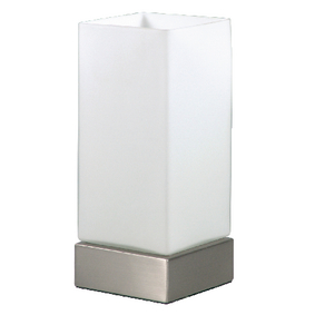 Stolní Lampa Dotyková Funkce 40 W Broušená Bílá