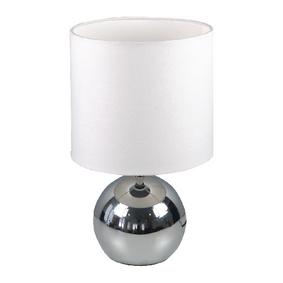 Stolní Lampa Dotyková Funkce 40 W Chrom / Bílá