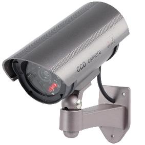 Válcová Atrapa Kamery IP44 Šedá