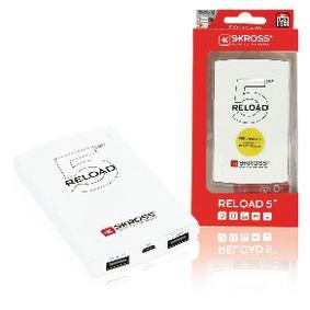 Pøenosná Powerbanka 5000 mAh USB Bílá