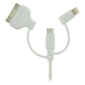 3 v 1 Synchronizaèní a Nabíjecí Kabel USB A Zástrèka - Micro B Zástrèka 1.00 m Bílá - zvìtšit obrázek
