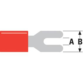Konektor Fast On 4.3 mm Zásuvka Èervená - zvìtšit obrázek