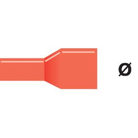 Konektor Fast On 4.0 mm Zásuvka Èervená - zvìtšit obrázek