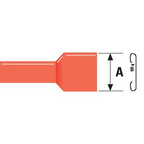 Konektor Fast On 6.3 mm Zásuvka PVC Èervená