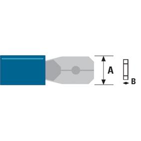 Konektor Fast On 6.3 mm Zástrèka Modrá - zvìtšit obrázek