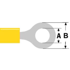 Konektor Fast On 8.4 mm Zásuvka PVC Žlutá
