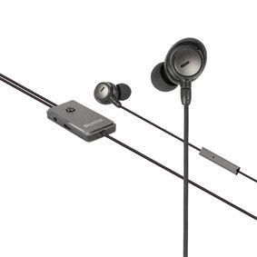Headset ANC (Active Noise Cancelling) Do ucha 3.5 mm Kabelové Vestavìný Mikrofon 1.2 m Antracit/Èerná