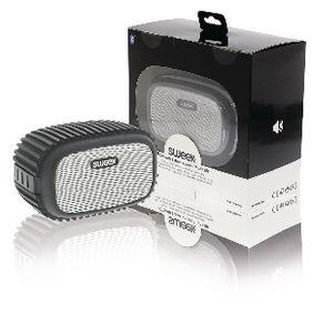 Bluetooth Reproduktor 4 W Vestavìný Mikrofon Èerná/Støíbrná