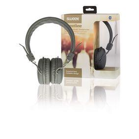 Sluchátka Na Uši Bluetooth 1.00 m Šedá