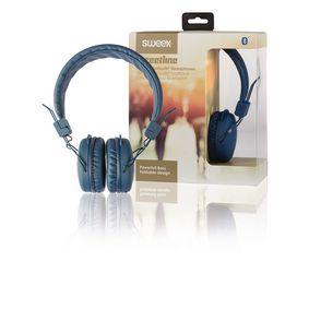 Sluchátka Na Uši Bluetooth 1.00 m Modrá