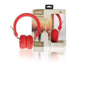 Sluchátka Na Uši Bluetooth 1.00 m Èervená